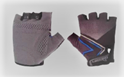 Picture of Gloves Short Finger - Black and Blue (5/6yrs)