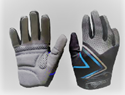 Picture of Gloves Long Finger - Black and Blue (11/13yrs)